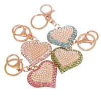 Брелок 0008-сердца камни бусинки