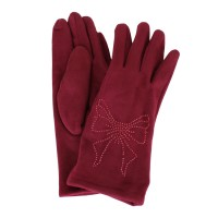 Перчатки женские D603-W-red